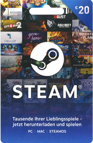 Steam  Card  20 Euro NEU