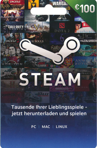Steam  Card 100 Euro NEU
