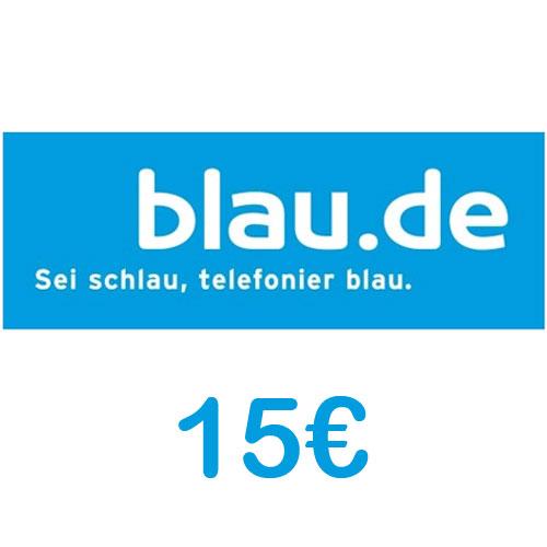 Prepaid blau.de 15 Euro Guthaben PIN Code als pdf. Verkauf erfolgt im Namen u. auf Rechnung des Gutscheinausstellers