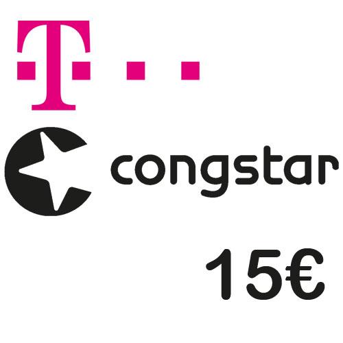 Prepaid Telekom/Congstar 15,- Guthaben Code als pdf. Verkauf erfolgt im Namen u. auf Rechnung des Gutscheinausstellers