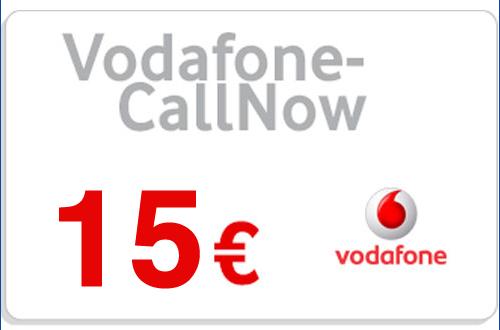 Prepaid Vodafone CallNow 15,- Guthaben Code als pdf. Verkauf erfolgt im Namen u. auf Rechnung des Gutscheinausstellers