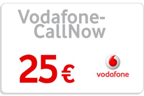 Prepaid Vodafone CallNow 25,- Guthaben Code als pdf. Verkauf erfolgt im Namen u. auf Rechnung des Gutscheinausstellers