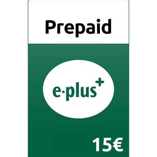 Prepaid E-plus 15,- Guthaben Pin
