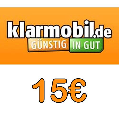 Prepaid Klarmobil 15,- Guthaben Pin