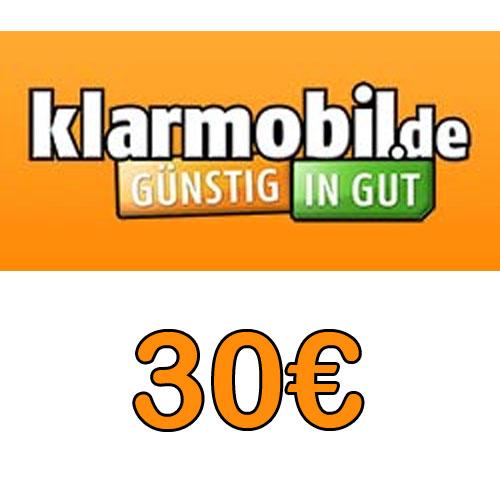 Prepaid Klarmobil 30,- Guthaben Pin