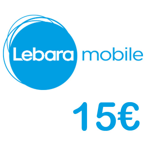 Prepaid Lebara 15,- Guthaben PIN Code als pdf. Verkauf erfolgt im Namen u. auf Rechnung des Gutscheinausstellers