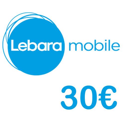 Prepaid Lebara 30,- Guthaben PIN Code als pdf. Verkauf erfolgt im Namen u. auf Rechnung des Gutscheinausstellers
