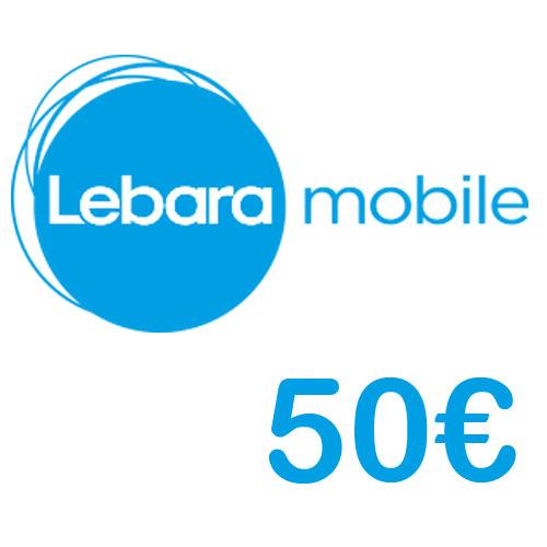 Prepaid Lebara 50,- Guthaben PIN Code als pdf. Verkauf erfolgt im Namen u. auf Rechnung des Gutscheinausstellers