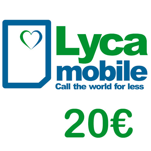 Prepaid Lyca 20,- Guthaben PIN Code als pdf. Verkauf erfolgt im Namen u. auf Rechnung des Gutscheinausstellers