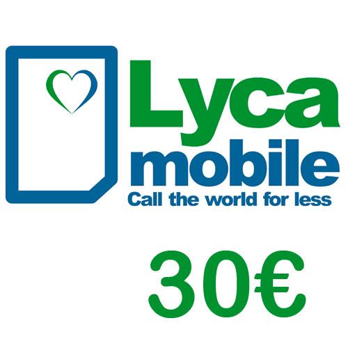 Prepaid Lyca 30,- Guthaben PIN Code als pdf. Verkauf erfolgt im Namen u. auf Rechnung des Gutscheinausstellers