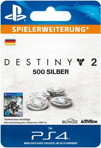ESD Destiny 2 Silver  500 Code wird als PDF Datei geliefert Einzweckgutschein