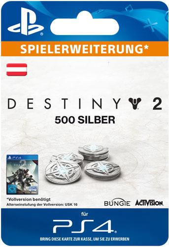 ESD Destiny 2 Silver  500 AT Code wird als PDF Datei geliefert Einzweckgutschein