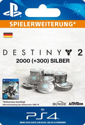 ESD Destiny 2 Silver 2000 +300 Code wird als PDF Datei geliefert Einzweckgutschein