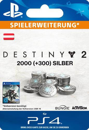 ESD Destiny 2 Silver 2000 +300 AT Code wird als PDF Datei geliefert Einzweckgutschein