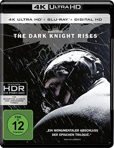 Batman:  Dark Knight Rises(UHD+BR) 2Disc Min: 158/DD5.1/WS  +UV