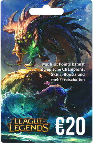League of Legends Card NEU 20 Euro 2800 Riot Points