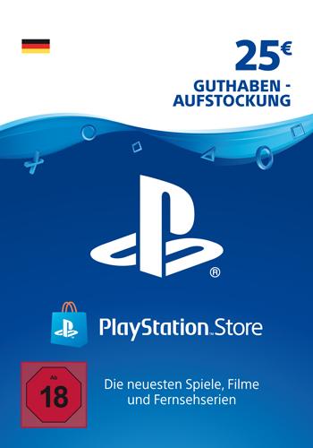 PSN Code 25  Euro Code wird als PDF Datei geliefert PlayStation Network