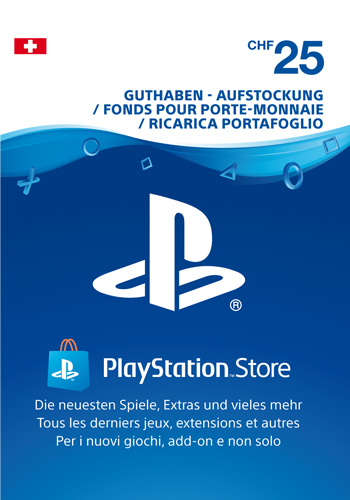 PSN Code 25 CHF Code wird als PDF Datei geliefert PlayStation Network