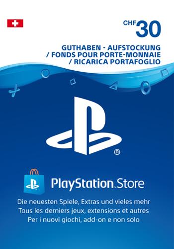 PSN Code 30 CHF Code wird als PDF Datei geliefert PlayStation Network