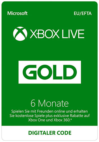 XBLive  Card 12 Monate Gold NEU  DE/AT
