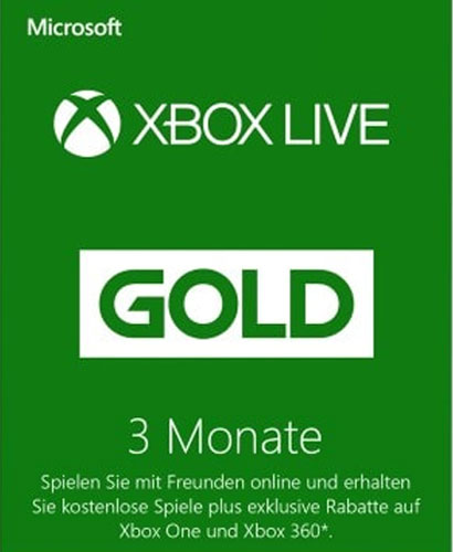XBLive  Pin   3 Monate Gold  NEU  DE/AT