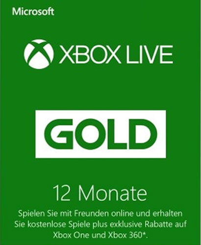 XBLive  Pin  12 Monate Gold  NEU  DE/AT