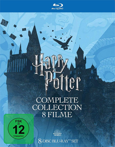 Harry Potter  Collection (BR)  8Disc Slipcase, Alle 8 Filme, Repack 2018