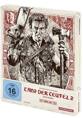 Evil Dead 2 (BR) Tanz d.Teufel 2  UNCUT Collector's Steelbook Edition, 2Disc