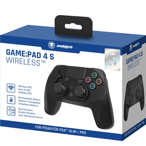 PS4 Controller  GamePad 4S wirel. black Snakebyte  Bluetooth