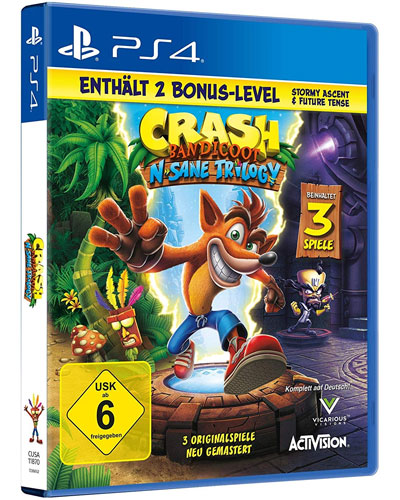Crash Bandicoot   PS-4  NEU + 2 BonusLVL N-Sane Triology
