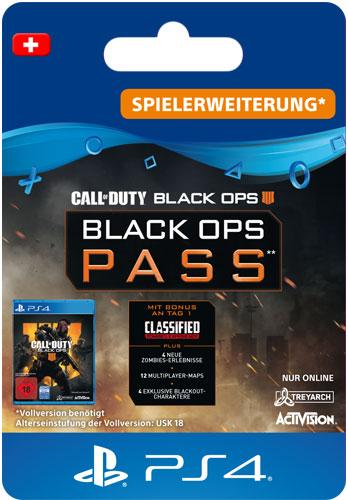 ESD CoD  BO4 Black Ops Pass CH Code wird als PDF Datei geliefert Call of Duty Black Ops 4