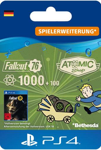 ESD Fallout 76 Atoms 1000 (+100) Code wird als PDF Datei geliefert