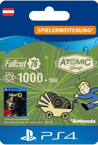 ESD Fallout 76 Atoms 1000 (+100) AT Code wird als PDF Datei geliefert
