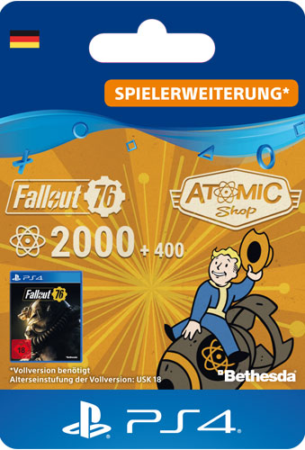 ESD Fallout 76 Atoms 2000 (+400) Code wird als PDF Datei geliefert