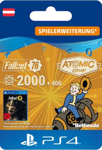 ESD Fallout 76 Atoms 2000 (+400) AT Code wird als PDF Datei geliefert