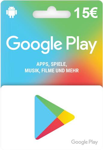 Google PlayStore  Pin  15 Euro Code wird als pdf geliefert