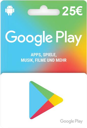 Google PlayStore  Pin  25 Euro Code wird als pdf geliefert
