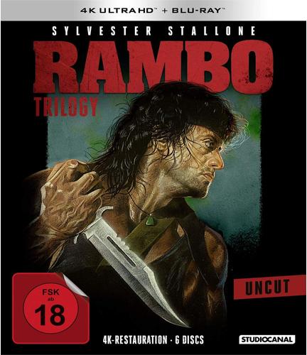 Rambo  Trilogy (UHD) -uncut- 6Discs Min: 295/DD/WS 4K Ultra HD