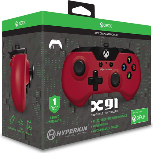 XB-One Controller Wired X91  rot XB-One und WIN10
