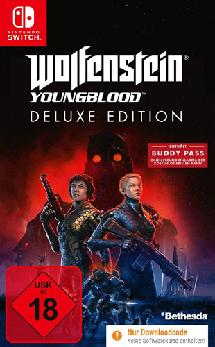 Wolfenstein 2  Youngblood  Switch Deluxe Edition  Code in a Box