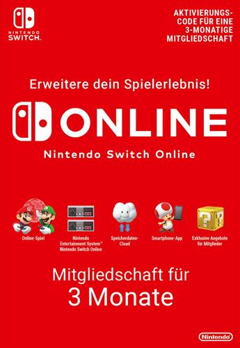 Nintendo Pin   3 Monate Mitgliedschaft Code wird als pdf-Datei geliefert