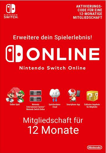 Nintendo Pin  12 Monate Mitgliedschaft Code wird als pdf-Datei geliefert