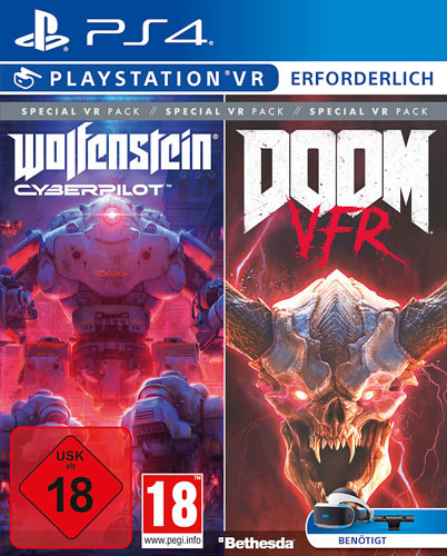 VR Bethestda VR Pack  PS-4 Doom VFR/Wolfenstein Cyberpilot