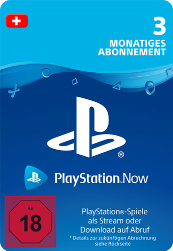 PSN Code    3 Monate PS NOW CH Code wird als PDF Datei geliefert PlayStation Now
