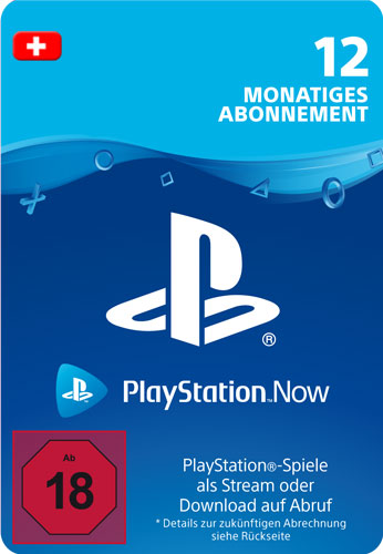 PSN Code   12 Monate PS NOW CH Code wird als PDF Datei geliefert PlayStation Now
