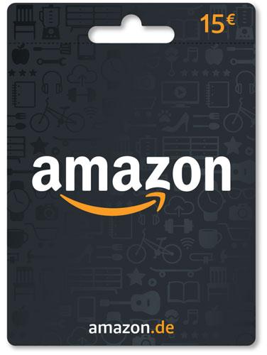 Amazon  Pin  15 Euro Code als pdf. Verkauf erfolgt im Namen u. auf Rechnung des Gutscheinausstellers