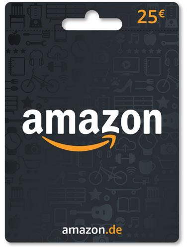 Amazon  Pin  25 Euro Code wird als pdf geliefert