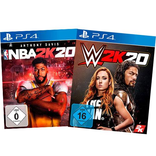 2k20 Sportsbundle  PS-4 WWE + NBA 2k20