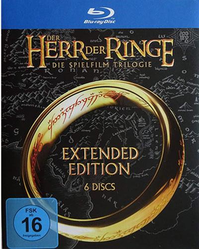 Herr der Ringe - Trilogie Ext.Ed. (BR) Extended Edition (Repackaging) 15Disc