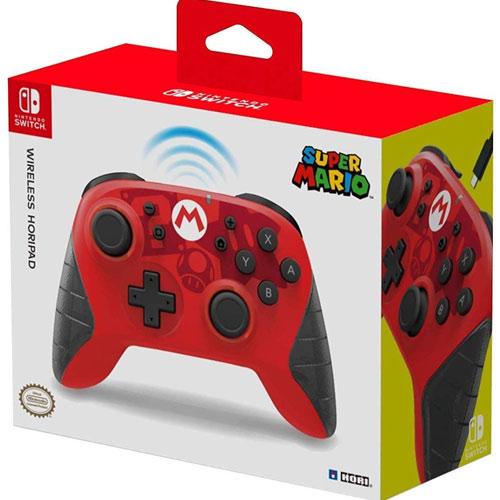Switch Controller Horipad Mario wireless